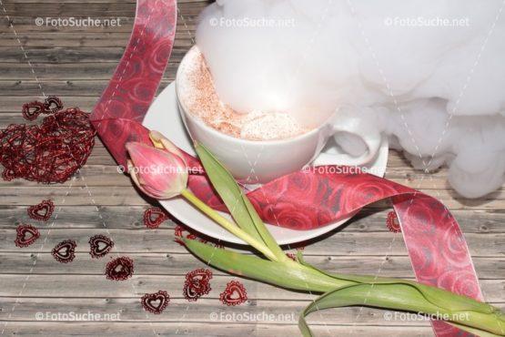 Fotosuche Valentinstag Tulpe Kaffee