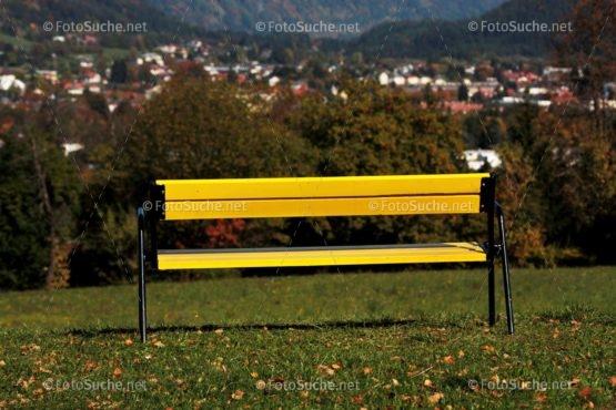 Foto Gelbe Bank Natur | Foto kaufen Foto kaufen | Fotosuchen